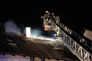 Brand Günzburg Dachstuhlbrand Blitzschlag 06062018 19