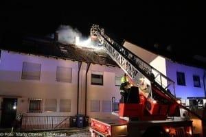 Brand Günzburg Dachstuhlbrand Blitzschlag 06062018 20