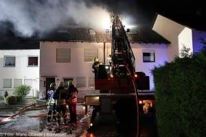 Brand Günzburg Dachstuhlbrand Blitzschlag 06062018 23