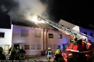 Brand Günzburg Dachstuhlbrand Blitzschlag 06062018 25
