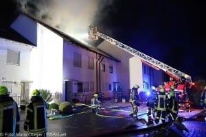 Brand Günzburg Dachstuhlbrand Blitzschlag 06062018 26
