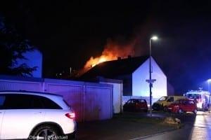 Brand Günzburg Dachstuhlbrand Blitzschlag 06062018 28