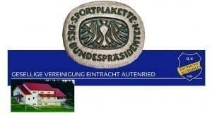 Gesellige Vereinigung Autenried Sportplakette