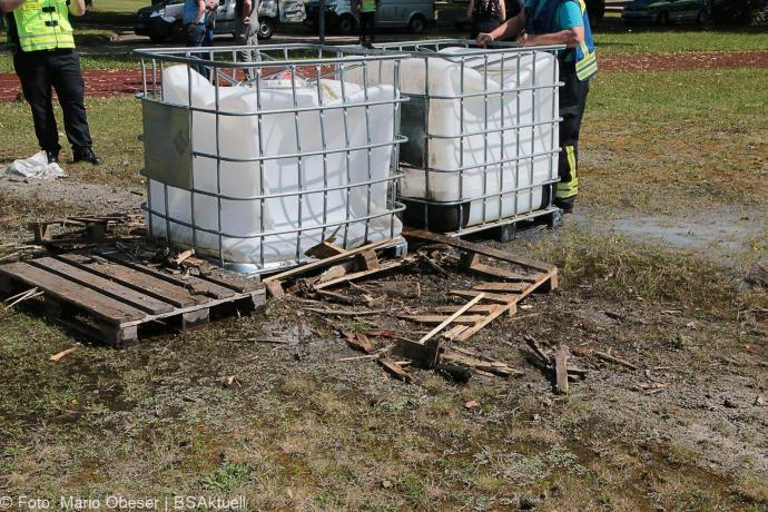 Leipheim - Fund-Sprengung einer Panzerabwehrrakete am 06.07.2018