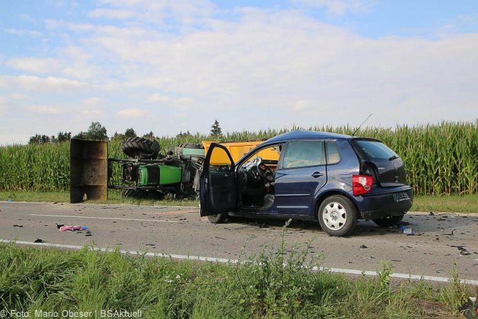 Unfall Bubesheim Grosskoetz Traktor Pkw 11072018 2