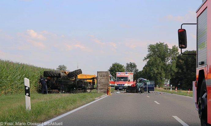 Unfall Bubesheim Grosskoetz Traktor Pkw 11072018 8