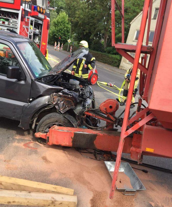 Unfall Ichenhausen Bahnübergang 1