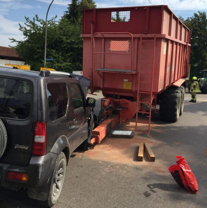 Unfall Ichenhausen Bahnübergang 3