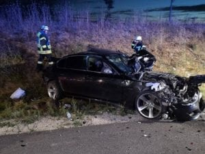 Autobahn 8 Sattelzug kracht in Unfallstelle bei Leipheim 2