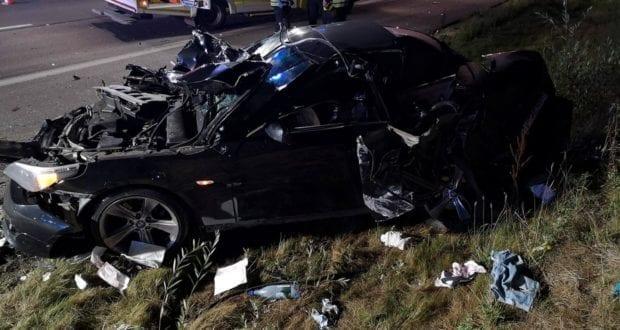 Autobahn 8 Sattelzug kracht in Unfallstelle bei Leipheim 3