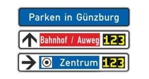 Günzburg Dynamisches Parkleitsystem