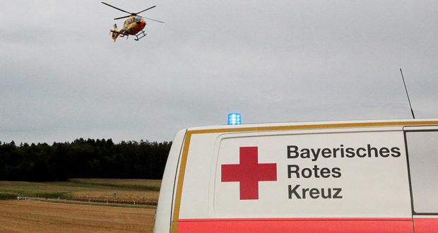 Rettungshubschrauber Rettungswagen BRK