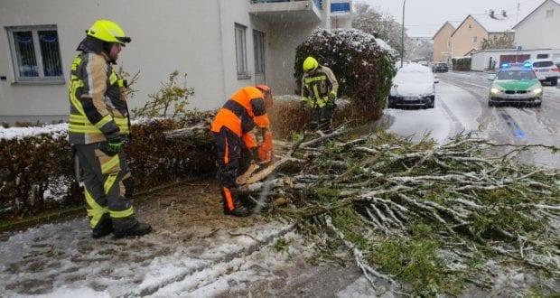 Feuerwehr Günzburg Wintereinbruch 2018 1
