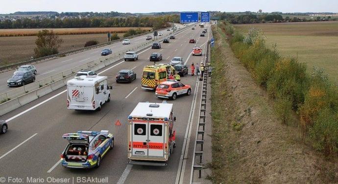Unfall A8 nache AK Elchingen 07102018 4