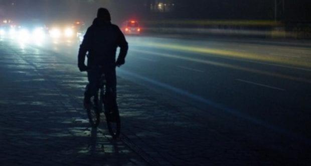 Fahrradfahrer Nacht Fahrrad