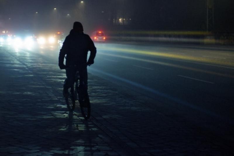 Fahrradfahrer Nacht Farrad
