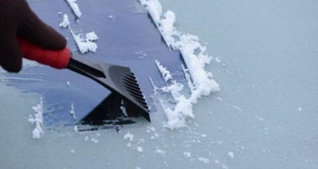 Glatteis Scheibenkratzen Eis