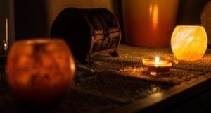 Kerze brennende