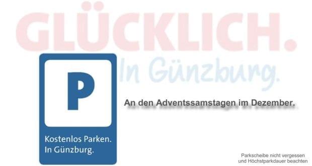 Kostenlos parken Adventsamstage Günzburg