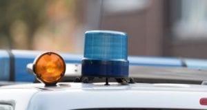 Polizeikontrolle Polizeifahrzeug