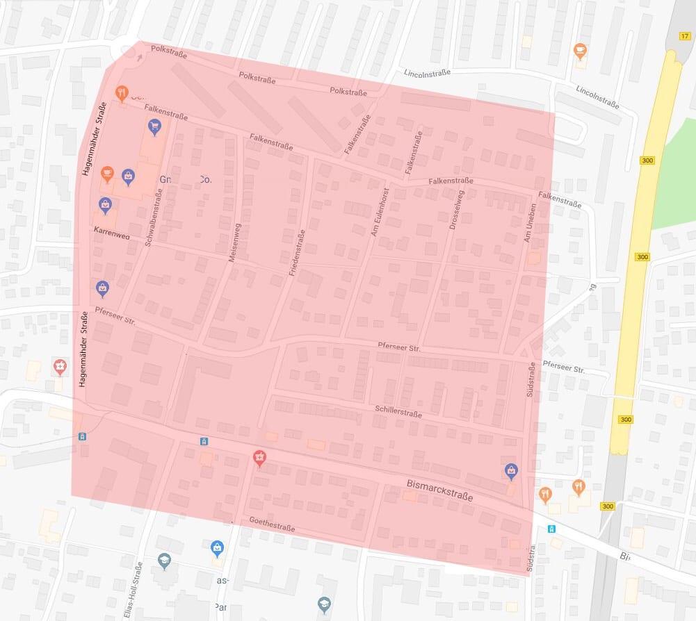 Evakuierungszone nach Bombenfund in Stadtbergen