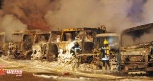 Thannhausen Brand mehrerer Lkw am 29122918