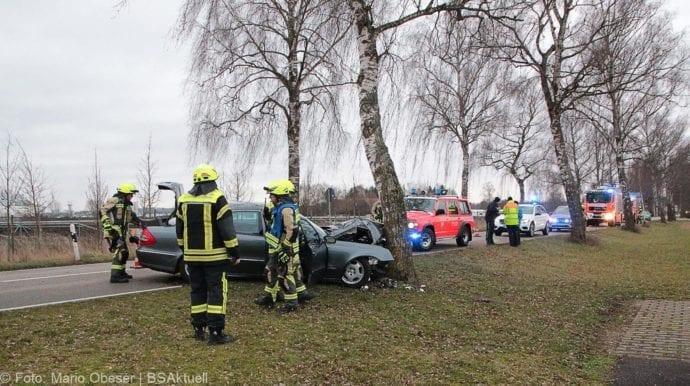 Günzburg Heidenheimer Strasse Unfall 30122018 3
