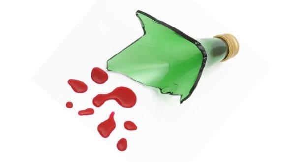Glasflasche Blut