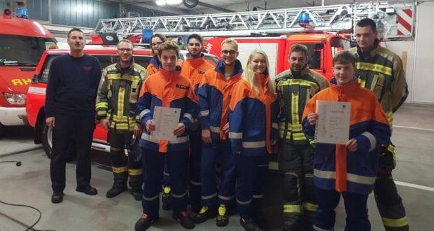 Jugendflamme Feuerwehr Günzburg Stufe 1 2018