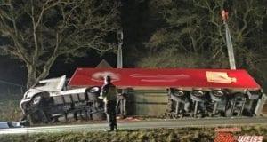 Sattelzug umgekippt Höselhurst Wattenweiler 101218 1