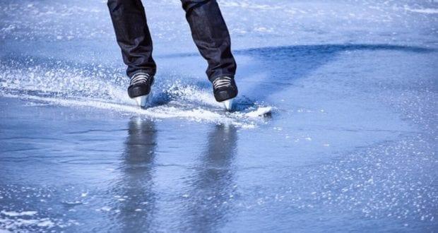 Eislaufen Schlittschuhlaufen Eisfläche