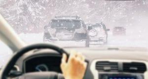 Lenkrad Winter Schnee