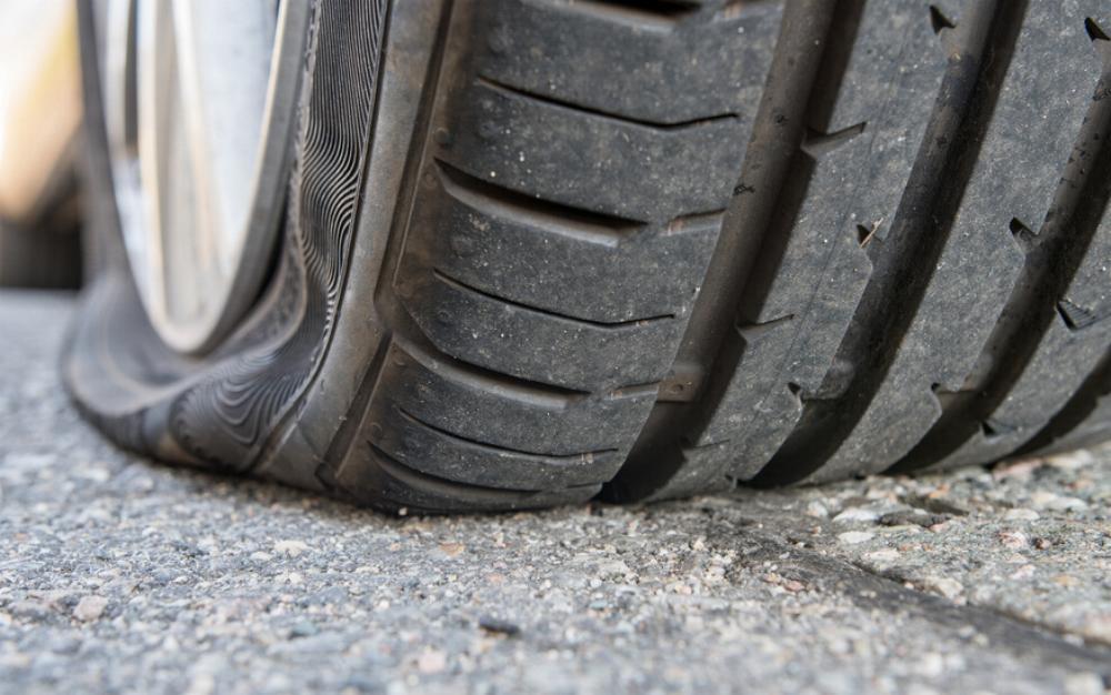 Plattfuss Reifen
