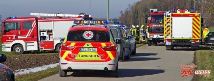 Unfall Wattenweiler-Ellzee 16012019 10