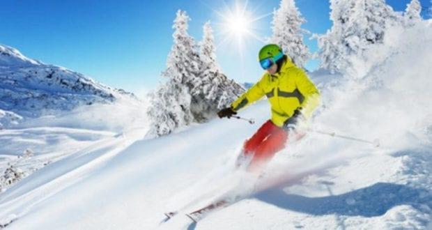 Skifahrer Piste