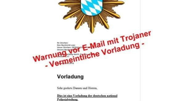 E-Mail Vorladung ist Trojaner