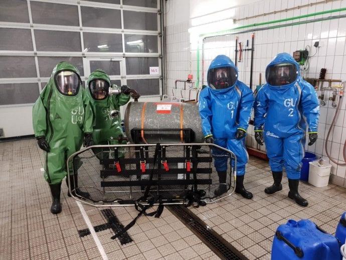 Zusatzausbildung Chemikalienschutzanzüge Feuerwehr Günzburg 1
