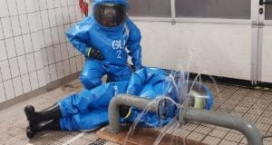 Zusatzausbildung Chemikalienschutzanzüge Feuerwehr Günzburg