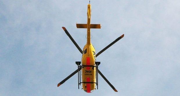 ADAC Rettungshubschrauber in der Luft