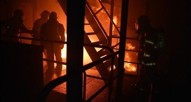 Feuerwehrmänner Brand Flammen
