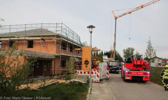 Günzburg-Nornheim Baukran umgestützt 29042019 7