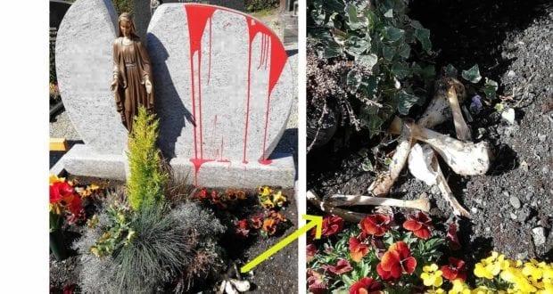 Grab Günzburg Friedhof beschädigt
