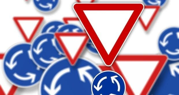 Kreisverkehr Schild