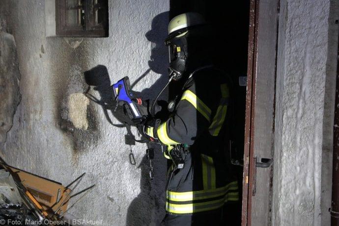 Brand von Unrat in Leipheim am 03.04.2019