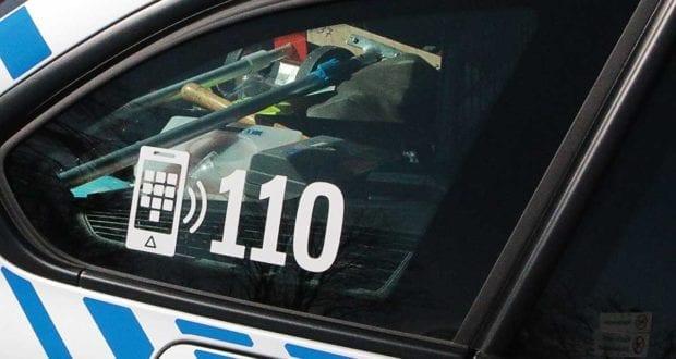 Polizeifahrzeug Heck 110