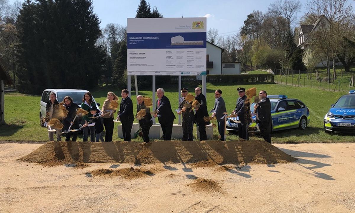 Spatenstich Neubau Polizei Burgau