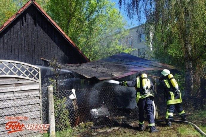 Thannhausen Brand Gartenhütte 25042019 1