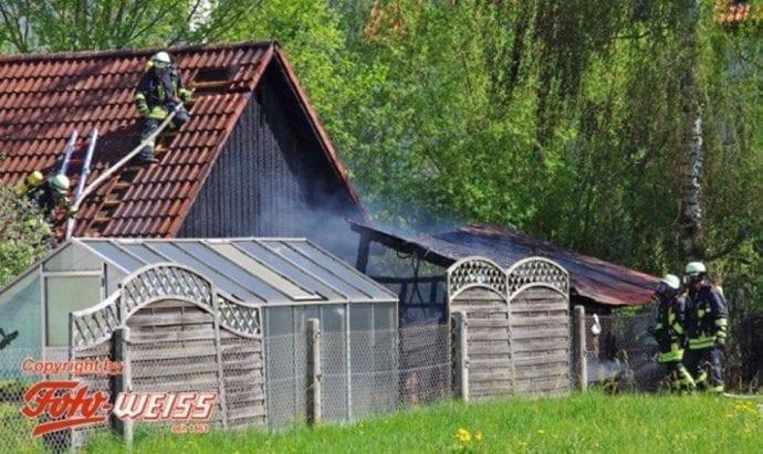 Thannhausen Brand Gartenhütte 25042019 4