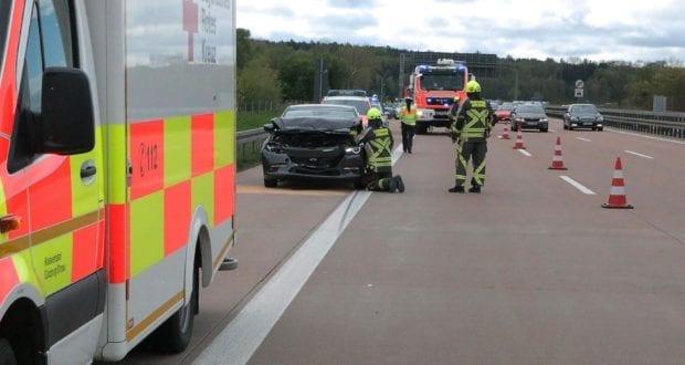 Unfall A8 Günzburg-Burgau Auffahrunfall 27042019 7
