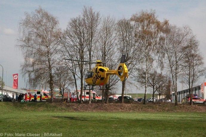 Unfall Ichenhausen Pkw erfasst Kind auf Roller 03042019 3